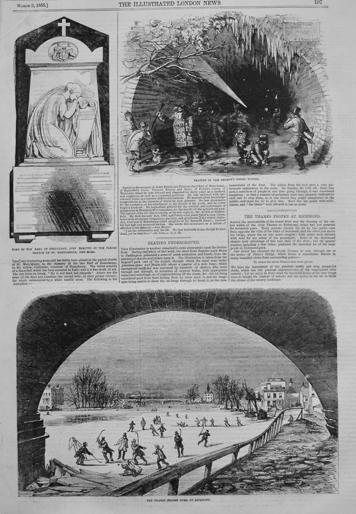 Skating Underground. 1855