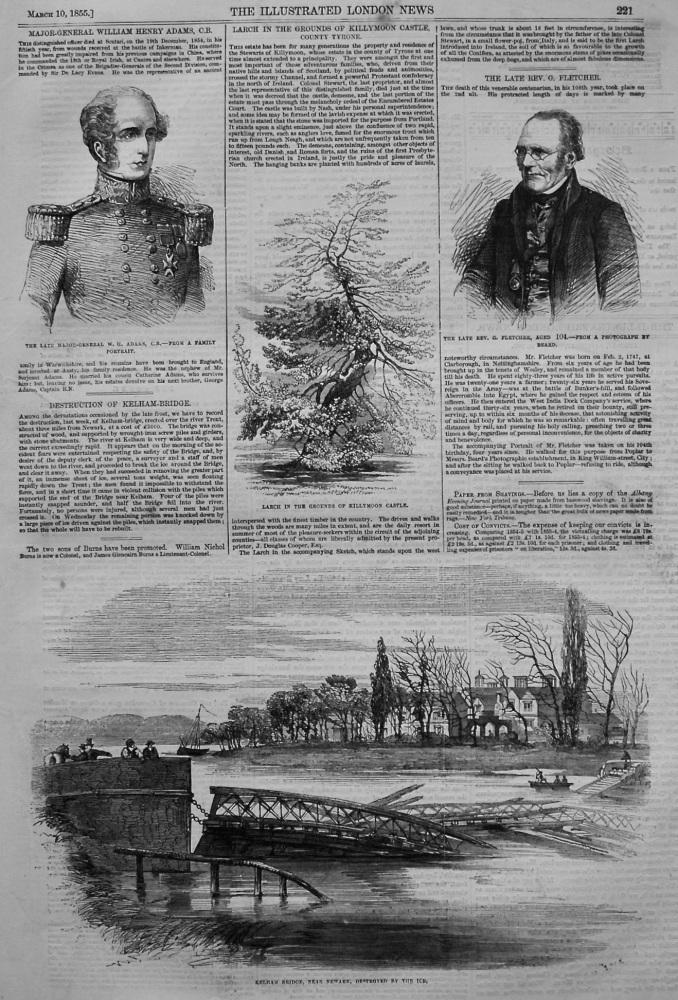 Destruction of Kelham-Bridge. 1855