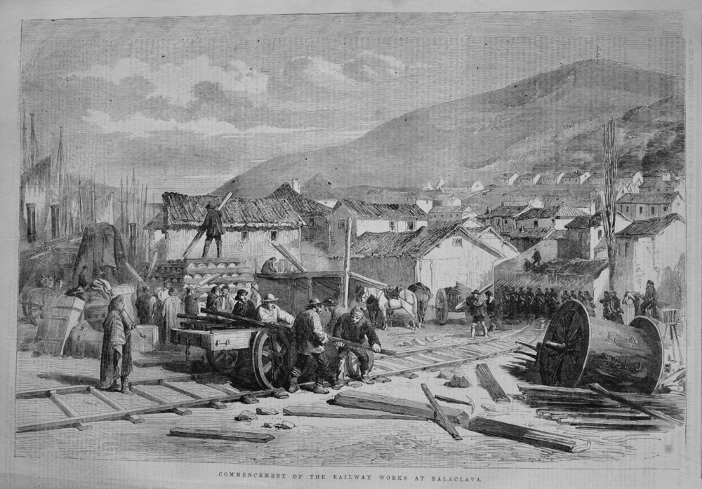 Commencement of the Railway Works at Balaclava. 1855