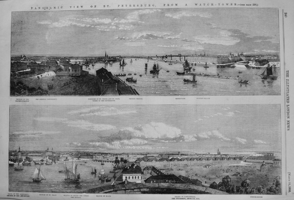 Panoramic View of St. Petersburg, from a Watch-Tower. 1855