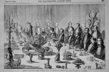 Banquet at the London Tavern to General Vivian and the English Officers of the Turkish Contingent in the Crimea. 1855