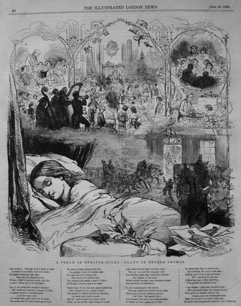 A Dream of Twelfth-Night.- Drawn by George Thomas.