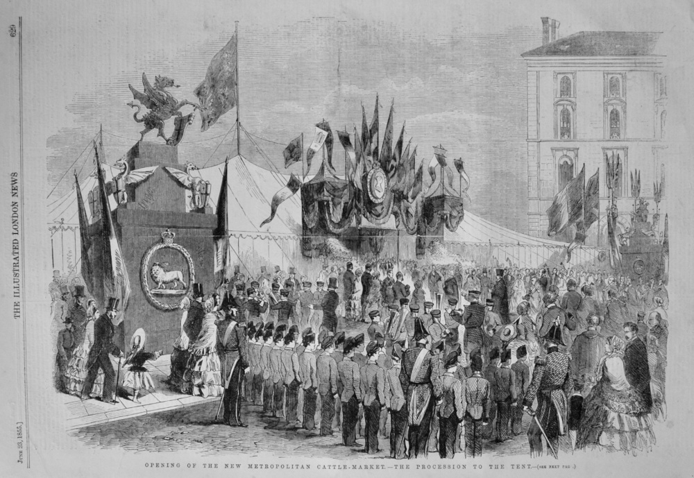 Opening of the new Metropolitan Cattle-Market.- The Procession to the Tent.