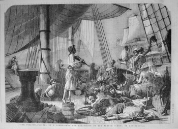"""""""The Pirates."""" - Painted by F. Beard.- From the Exhibition of the French School of Art. 1855"""