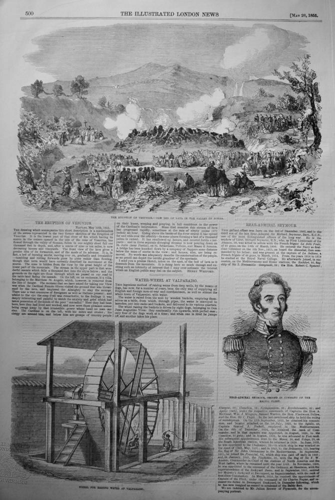 Eruption of Vesuvius. 1855