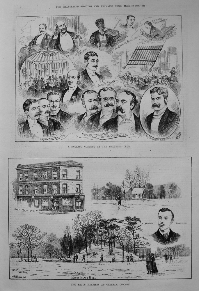 The Argus Harriers at Clapham Common. 1888
