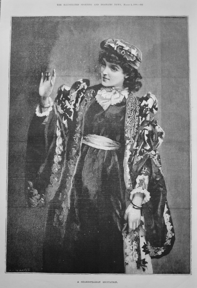 A Shakespearian Recitation. 1888
