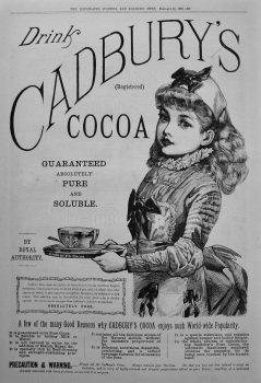 Cadbury's Cocoa. 1888