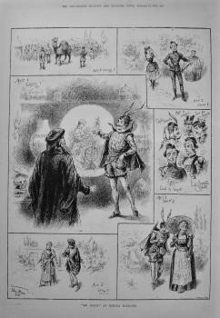 """Dr. Faust"" at Chelsea Barracks. 1888"