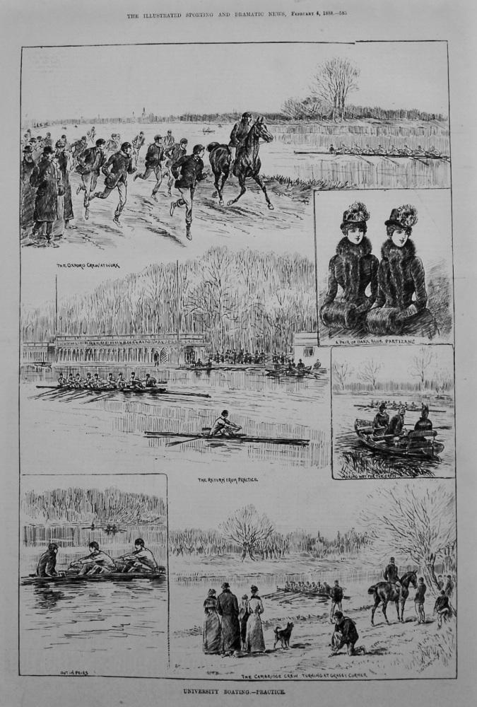 University Boating.- Practice. 1888