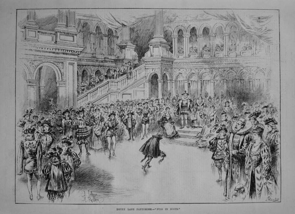 "Drury Lane Pantomime.- ""Puss in Boots."" 1888."