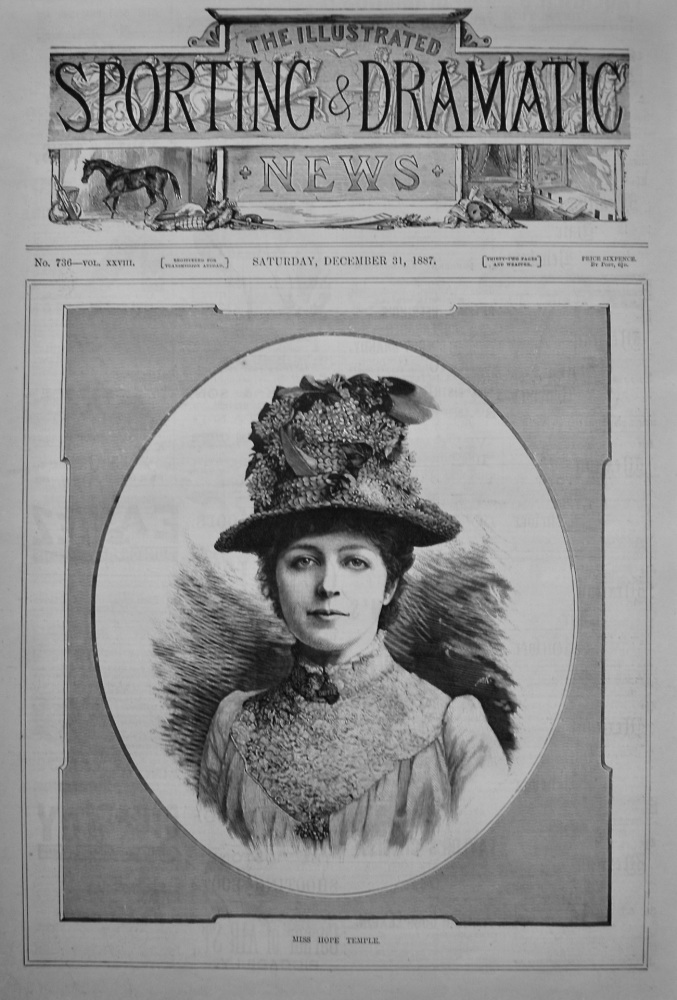 Miss Hope Temple. 1887