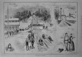 Toboganning in Saratoga. 1887