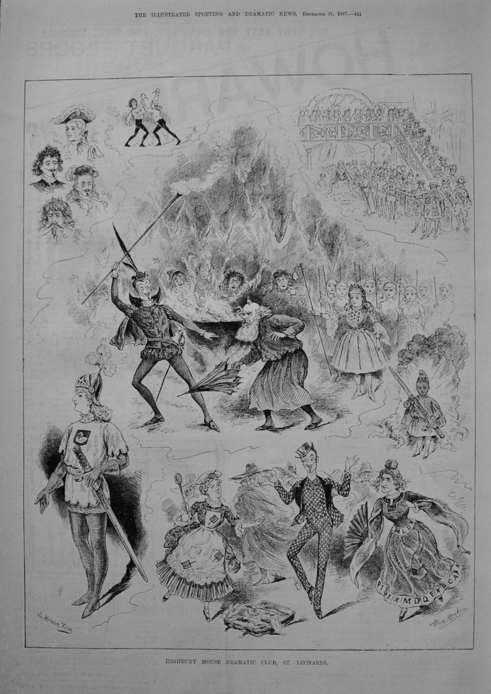 Highbury House Dramatic Club, St. Leonards. 1887