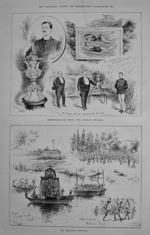 Presentation to Finney, The Champion Swimmer. 1887
