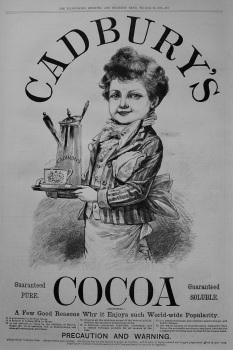 Cadbury's Cocoa. 1887