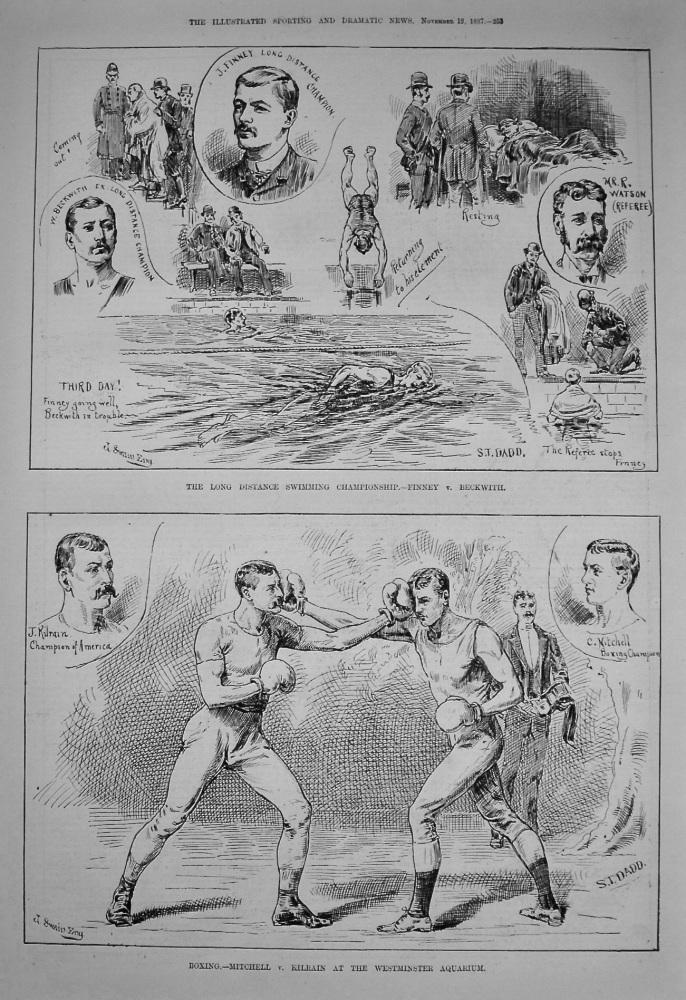 Boxing.- Mitchell v. Kilrain at Westminster Aquarium. 1877