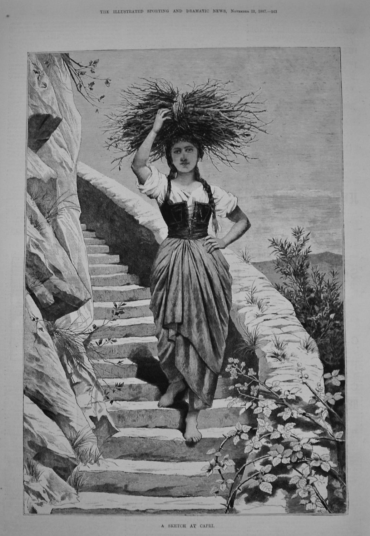 A Sketch at Capri. 1887