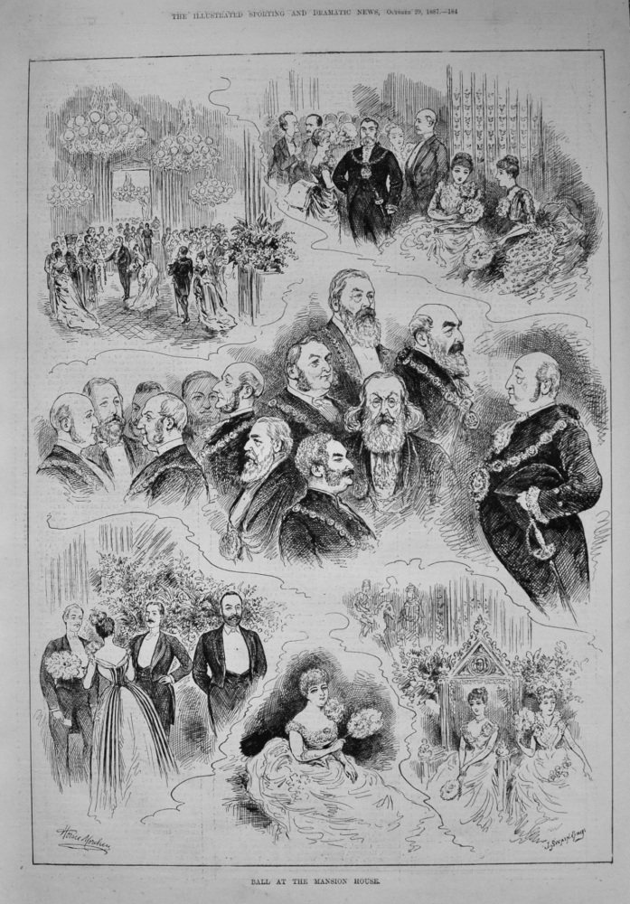 Ball at the Mansion House. 1887