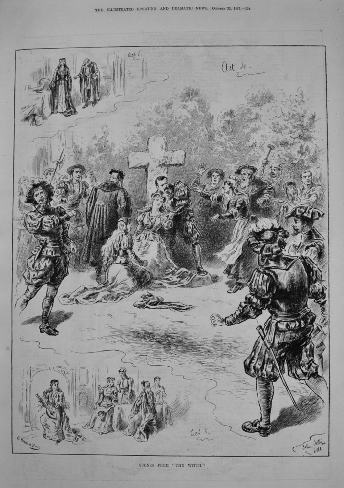 "Scenes from ""The Witch,"" at the Princess's Theatre. 1887"