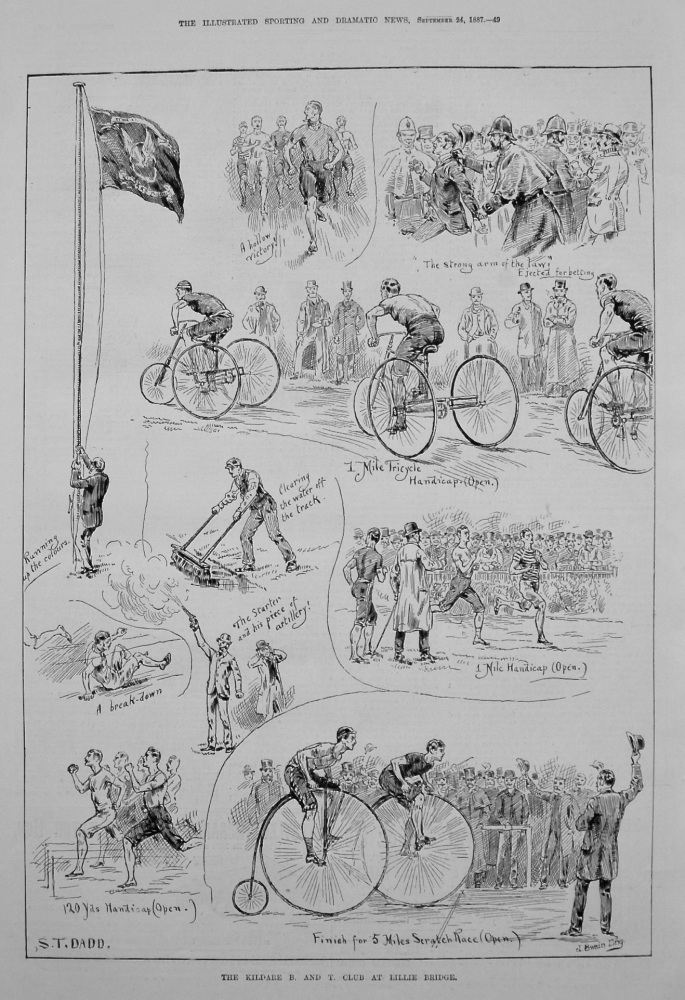 The Kildare B. and T. Club at Lillie Bridge. 1887