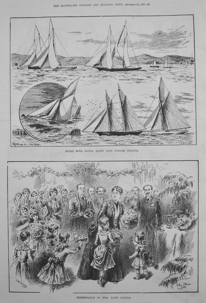 Presentation to Mme. Katti Lanner. 1887