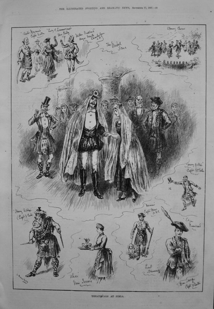 Theatricals at Simla. 1887