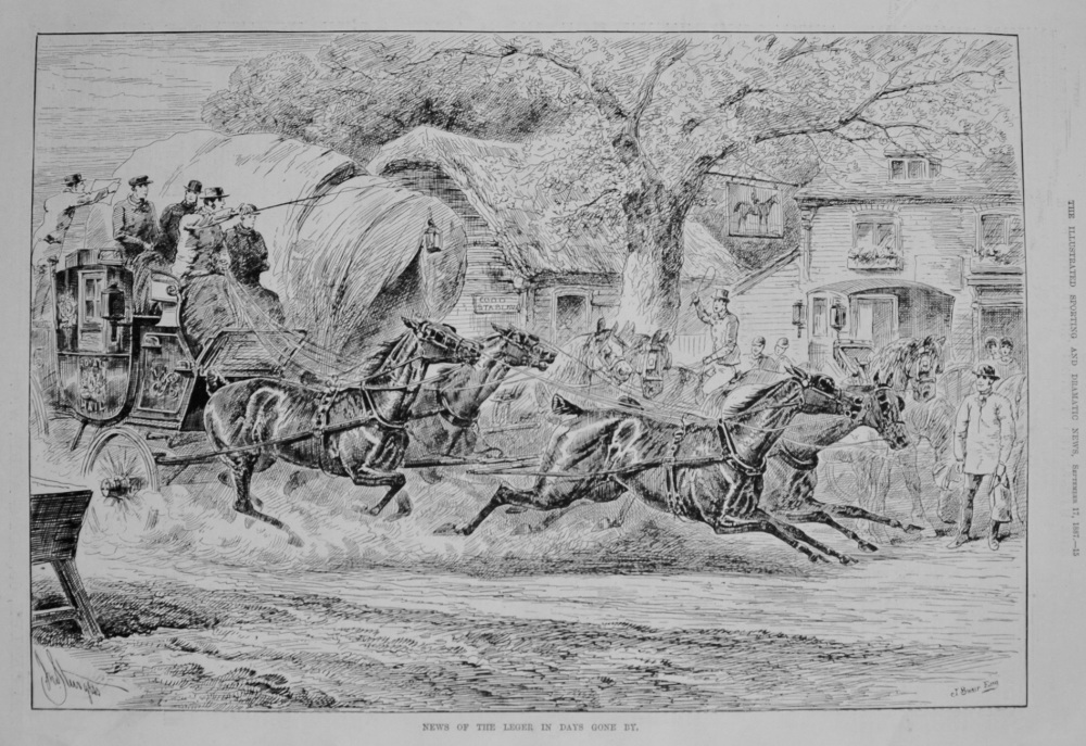 News of the Leger in Days Gone By. 1887