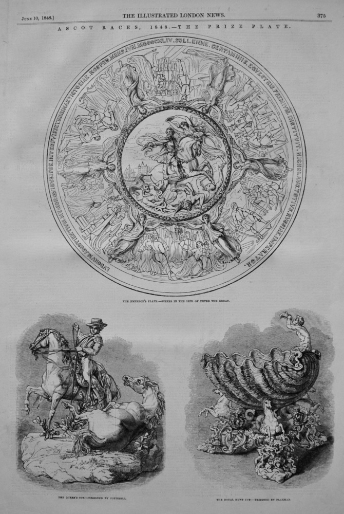 Ascot Races, 1848.- The Prize Plate.