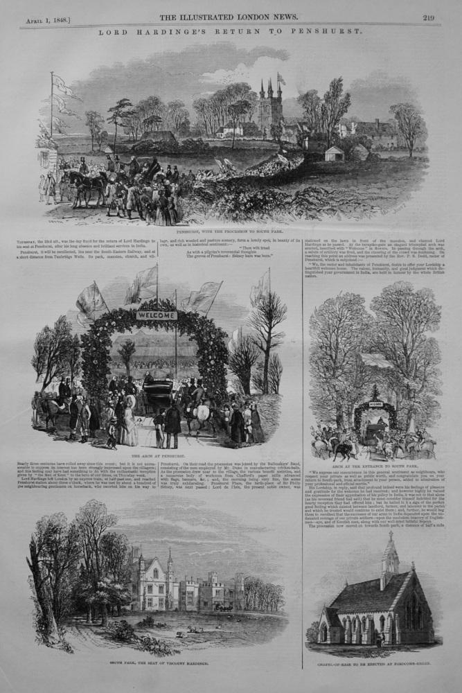 Lord Hardinge's Return to Penshurst. 1848