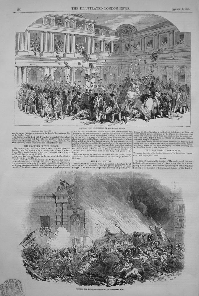 The Palais Royal. (Destruction)  1848.