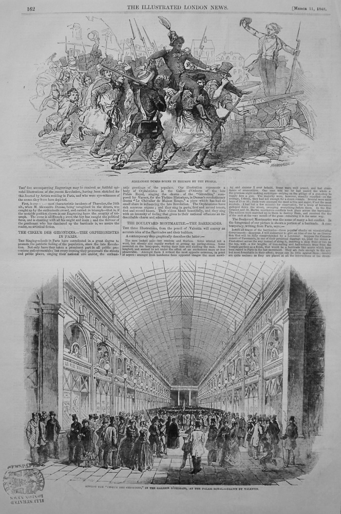The Choeur Des Girondins.- The Orpheonistes in Paris. 1848