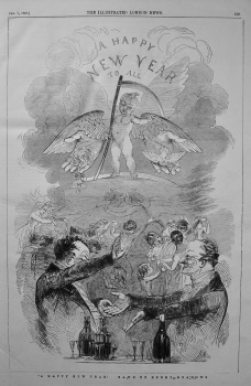 """A Happy New Year!"" Drawn by Kenny Meadows. 1848"