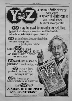 Y Wise Head Z  (Lever's Soap Powder) 1903