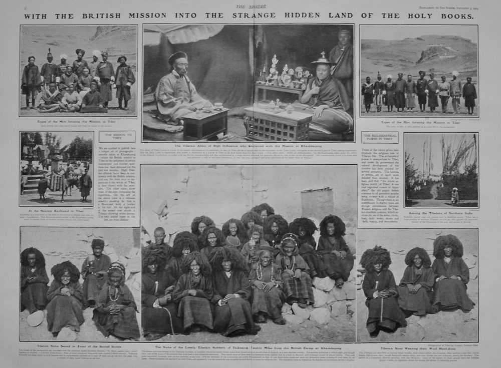 The Sphere, December 5th, 1903. (Supplement) :  With the British Mission into Unknown Tibet.
