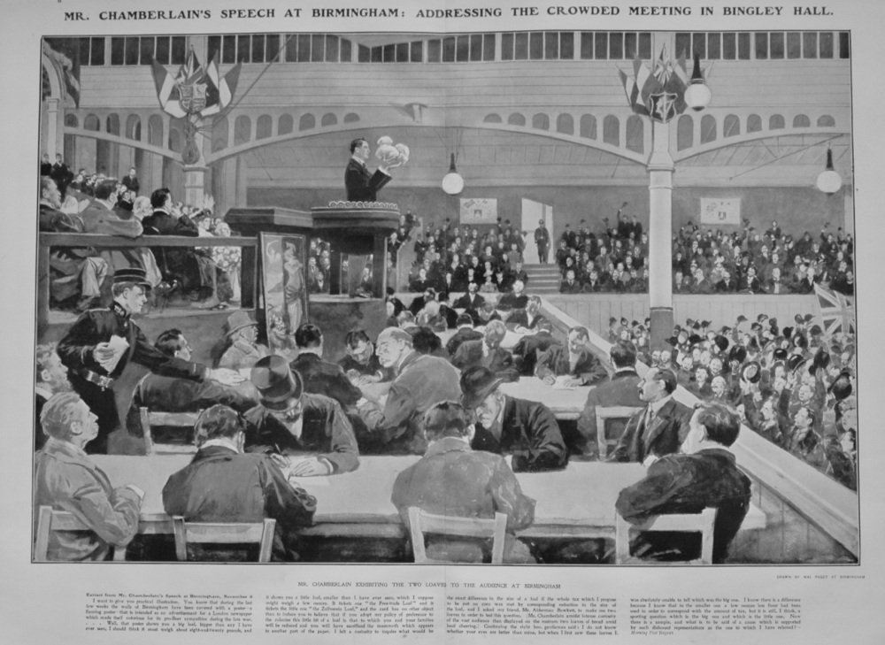 The Sphere, November 14th, 1903.  (Supplement) : Seven Days of the Fiscal Fight.