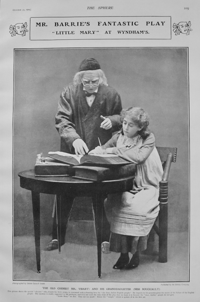 """Mr. Barrie's Fantastic Play : Little Mary"""" at Wyndham's. 1903"""
