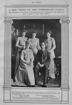 A New Group of the Cumberland Family : The Daughters of the Duke of Cumberland, Son of George V., the Dethroned King of Hanover, with their Mother. 19