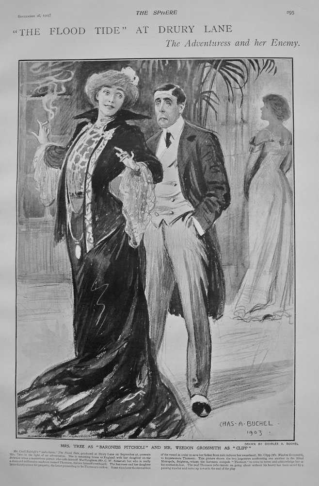 """The Flood Tide"" at Drury Lane : The Adventuress and her Enemy. 1903"