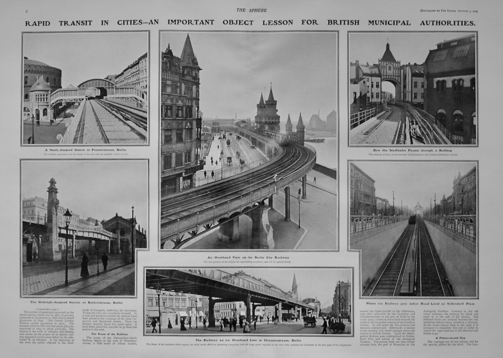 The Sphere, October 3rd, 1903.  (Supplement)  : The Question of Rapid Communication in Cities. 1903