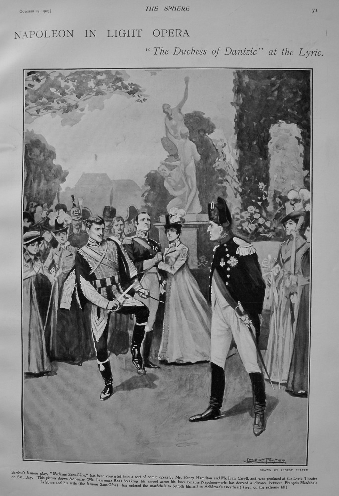"Napoleon in Light Opera : ""The Duchess of Dantzic"" at the Lyric. 1903"