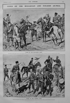 Types of the Bulgarian and Turkish Armies. 1903