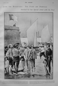 After the Manoeuvres : The Fleet off Portugal. 1903