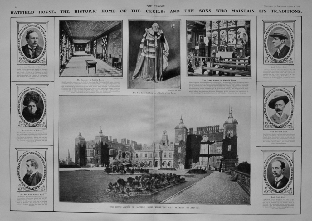 The Sphere, August 29th, 1903.  (Supplement) : The Late Marquis of Salisbury : The Career of a Great English Statesman. 1903