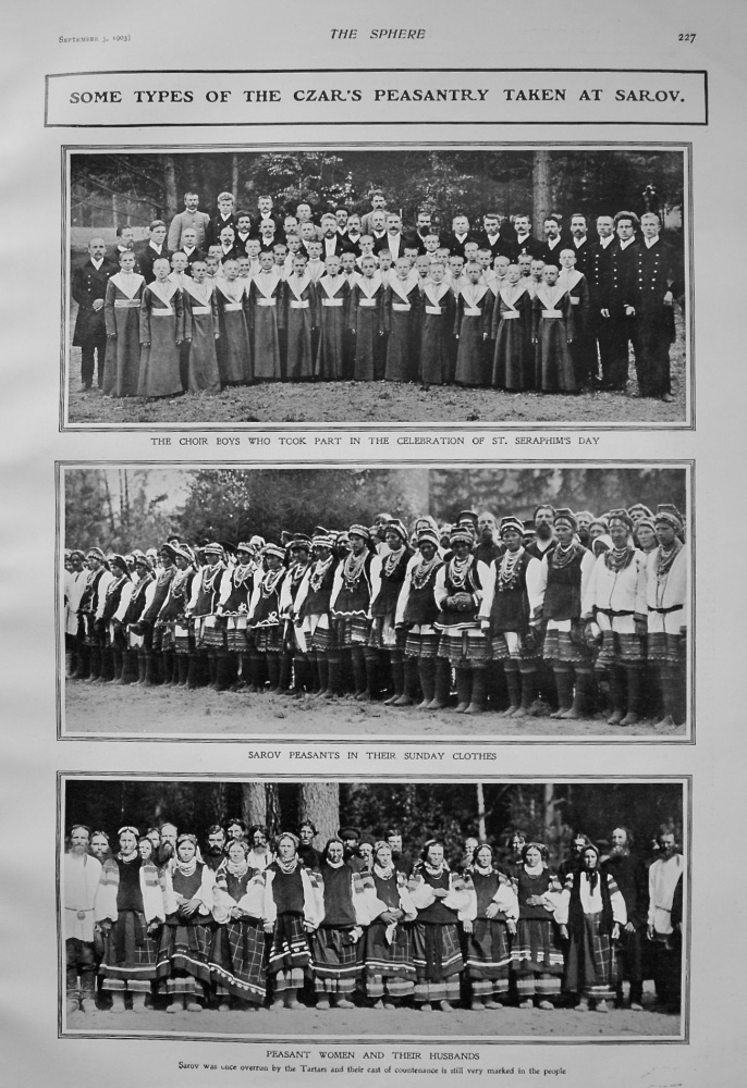 Some Types of the Czar's Peasantry taken at Sarov. 1903