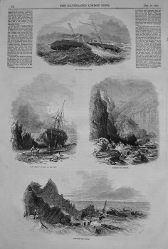 """Wreck of the """"Sirius"""" Steamer. 1847"""