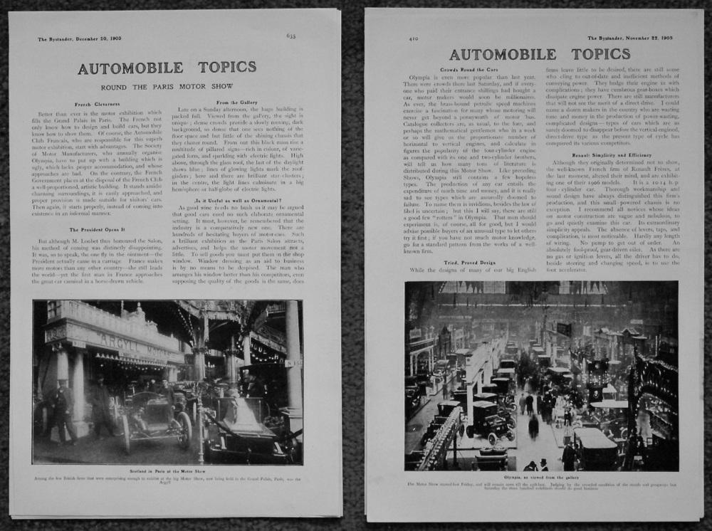 Automobile Topics. 1905