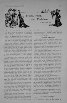 Frocks, Frills, and Furbelows. Written by Mrs. Jack May. 1905