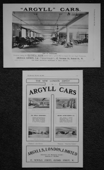 Argyll Cars. (Adverts). 1905