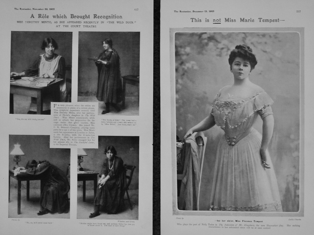 A Role Which Brought Recognition. 1905